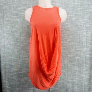 Zara Gathered Linen Sleeveless Tunic Top Small